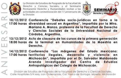 Aniversario Posgrado Derecho UMSNH 2012