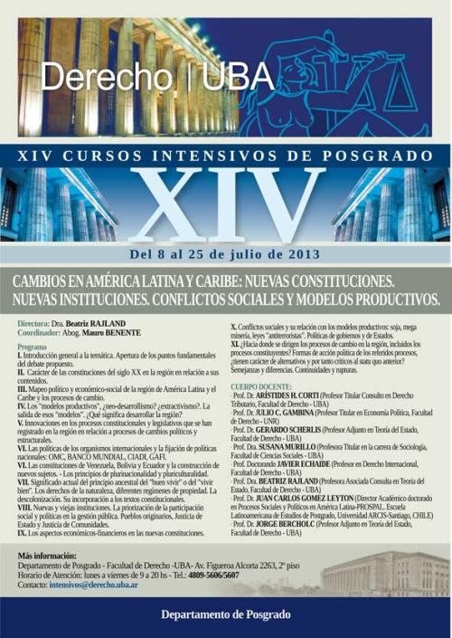 Curso intensivo 2013. Cambios en América Latina y Caribe