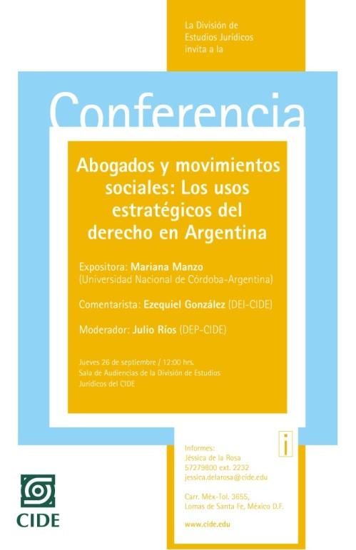 Conferencia - CIDE - Mariana Manzo