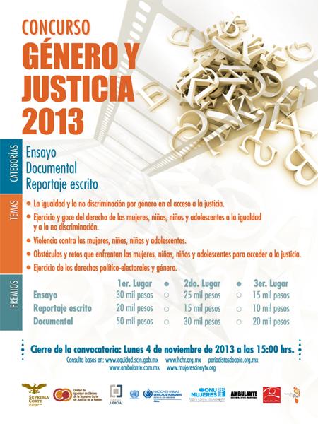 Concurso géner y justicia
