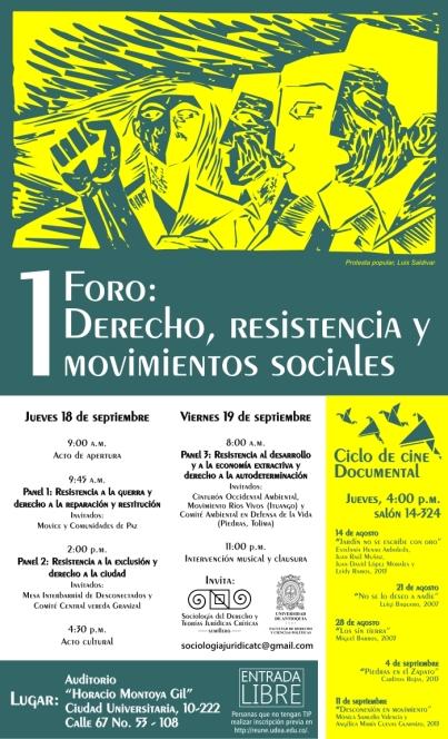 Foro derecho, resistencia y movimientos sociales
