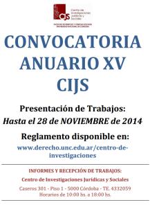 convocatoria publicacion CIJS