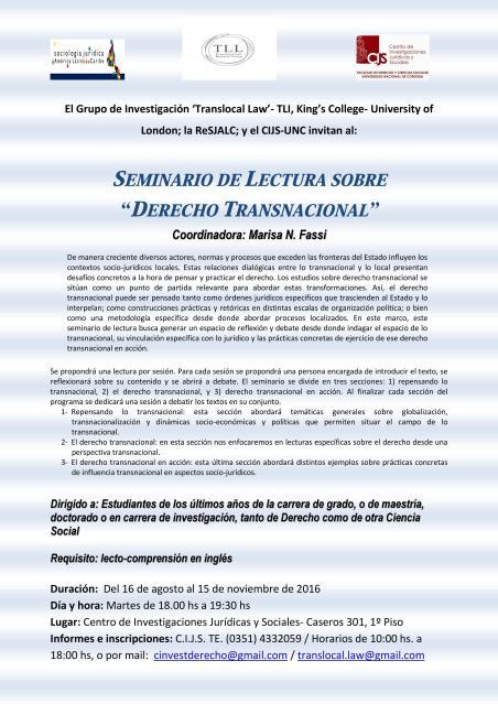 Seminario de Lectura sobre Derecho Transnacional